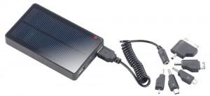 revolt Solar-Powerbank mit 4.000mAh für iPad, iPhone, Navi, Smartphone